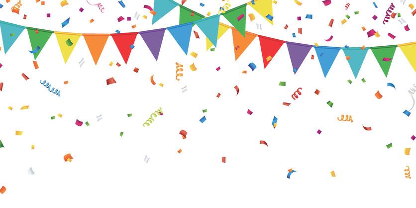 banderines para fiestas de cumpleaños, banderines para decorar fiestas