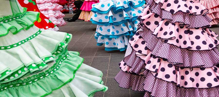 vestidos sevillanas feria de abril