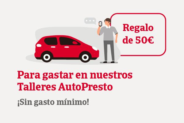 Te regalamos 50€ para gastar en nuestra res de Talleres AutoPresto